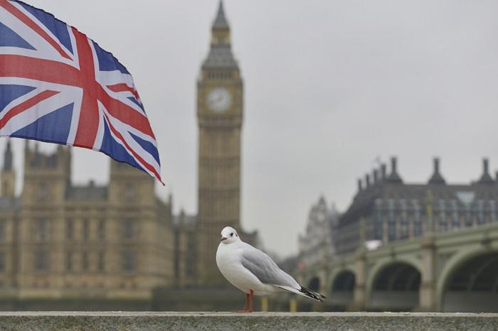 Big Ben with Union Jack