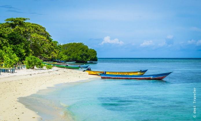 Traopical paradise island Arborek West Papua Indonesia