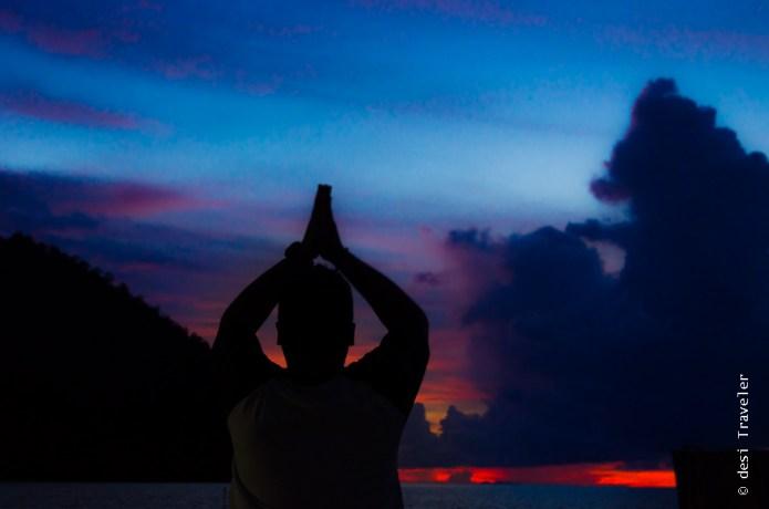 Yoga practice Raja Ampat Indonesia