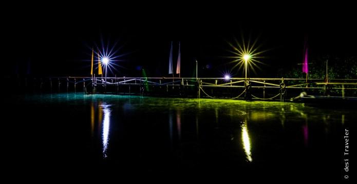 Star shaped light night photography