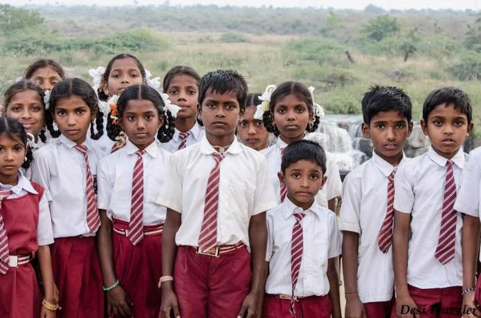 Picnic School Kids at Ethipothala Waterfalls