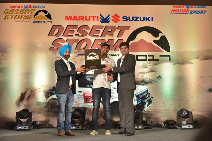 R Nataraj of TVS Raching Maruti Desert Storm