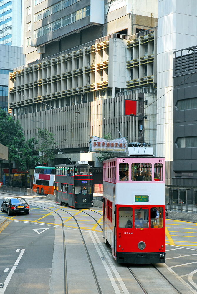 Double Decker Tram Hong Kong