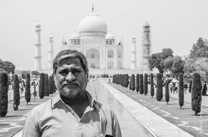 A Tamil man at Taj Mahal Agra