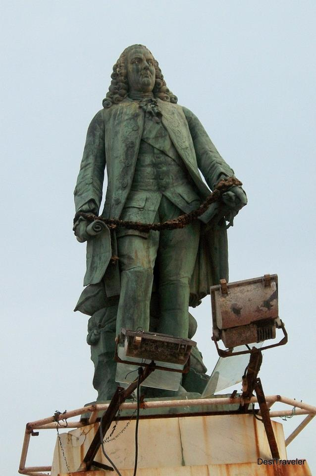 Statue of Dupleix former French Governor of Pondiherry