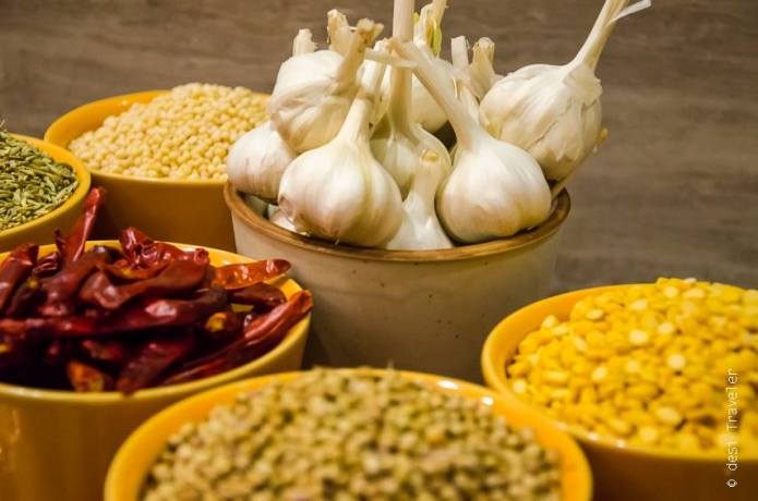 Garlic Chilies & other spices