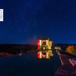 January 2018 Calendar Desktop Wallpaper – Starlit Pool Lakshman Sagar Rajasthan