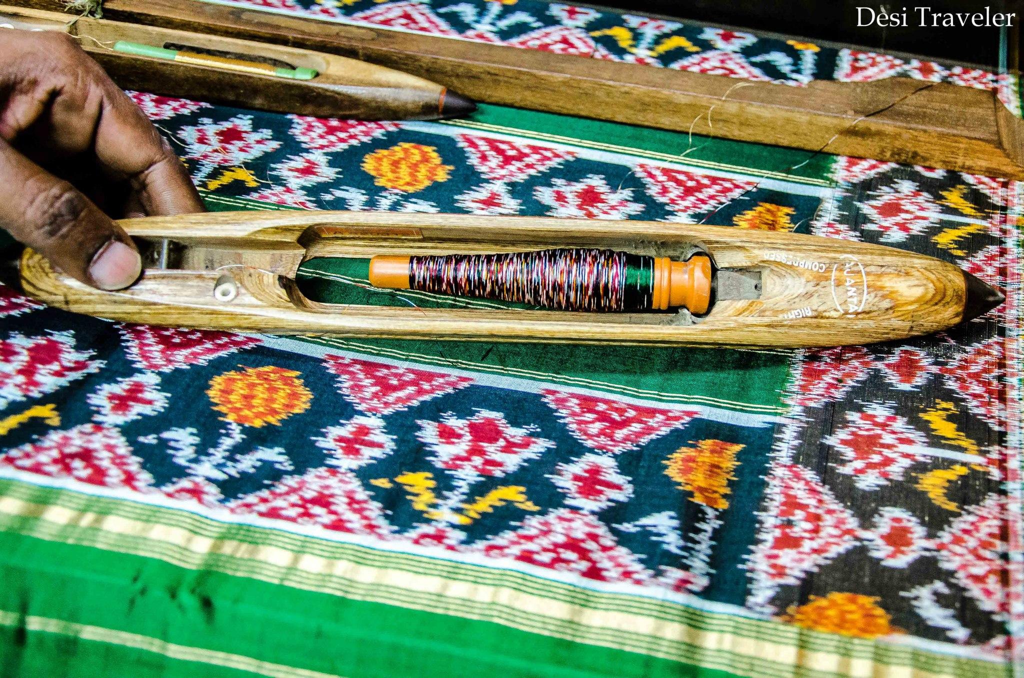 Bobbin used in weaving in Pochampally Telangana