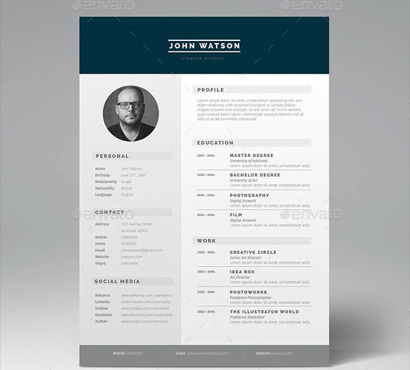 16 great resume indesign templates