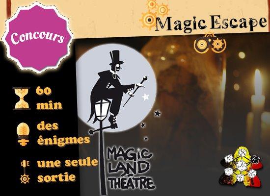 *Cloturé* CONCOURS Magic Escape – Le Mystère du Dr Schnitzel