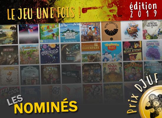 Le Jeu Une Fois 2019 – Les nominations