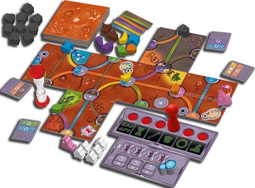 Magic Maze on Mars, le plateau