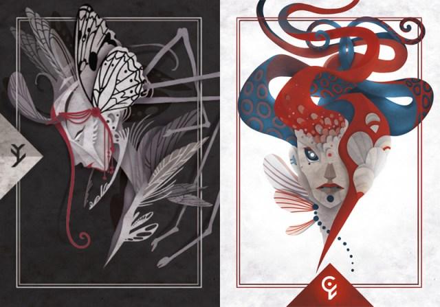 cartes personnages ombre ou shaman