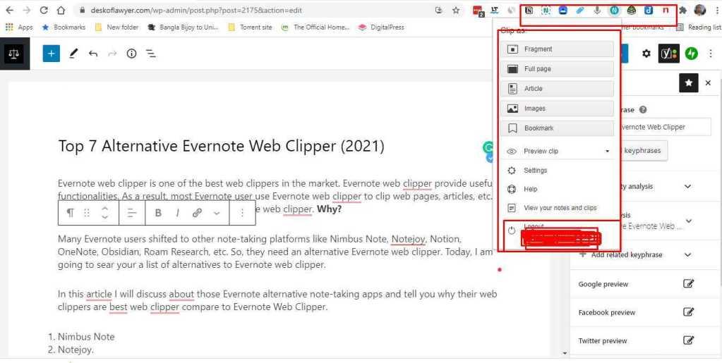 Alternative Evernote Web Clipper