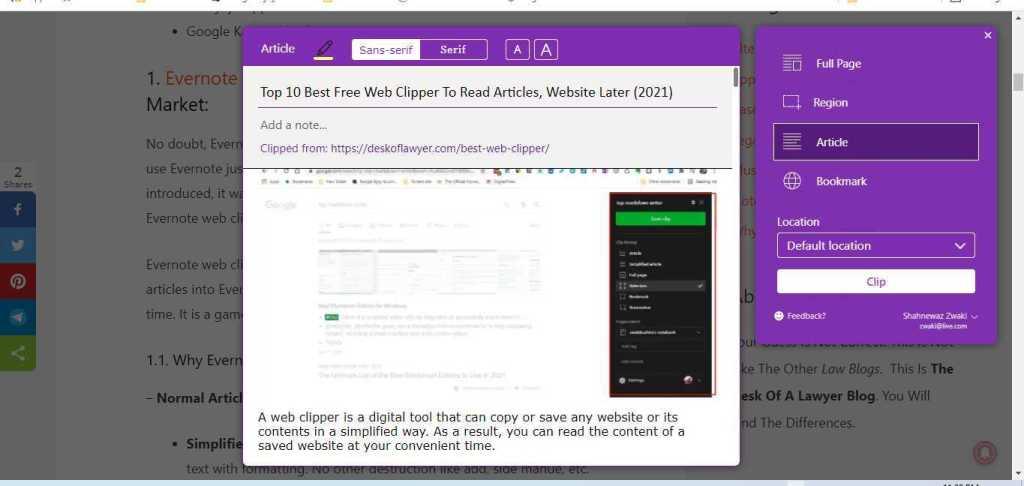 OneNote Web Clipper Alternative