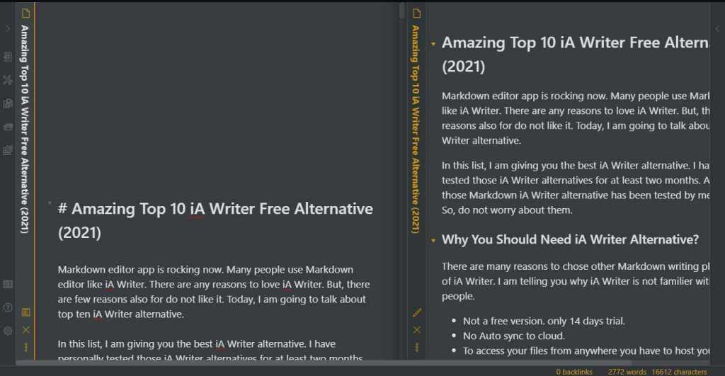 iA Writer Free Alternative