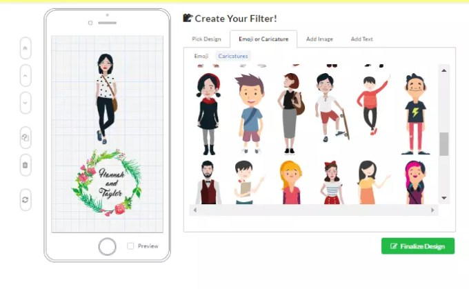 snapchat geofilter template maker online free