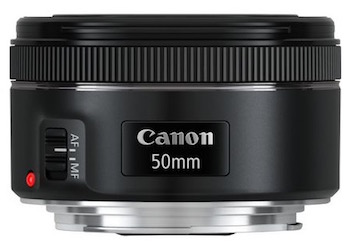 Canon EF 50mm f1.8 prime lens