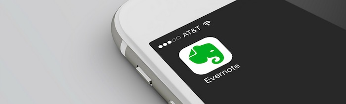 Evernote icon on a smartphone