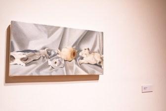 Painting by Rachel Kalman, Parabola: Assembly exhibition, Des Lee Gallery, Washington University, St. Louis, MO