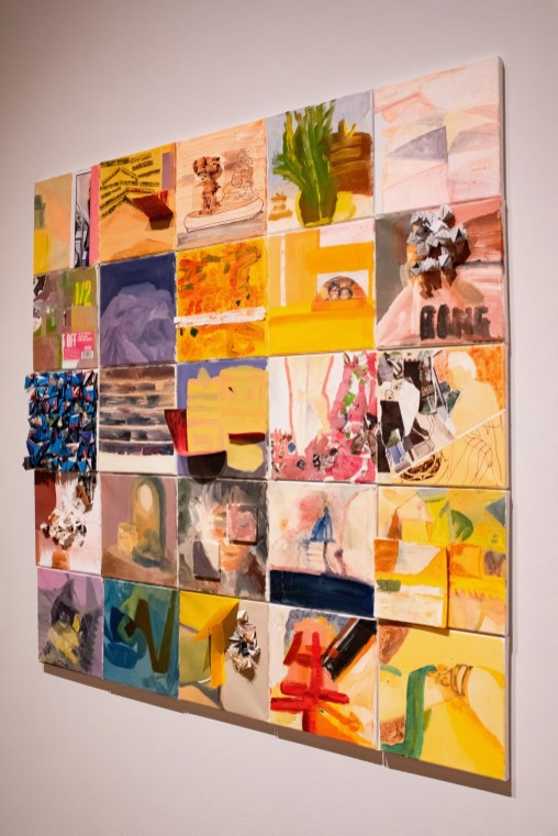 """""""Mixt"""", a Collage by Lingrong Wang, Parabola: Assembly exhibition, Des Lee Gallery, Washington University, St. Louis, MO"""