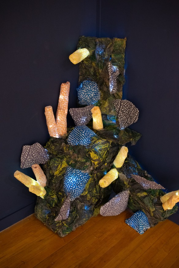 Recycled Reef, by Rylie Walter, BFA Show 2, Des Lee Gallery, St. Louis, MO
