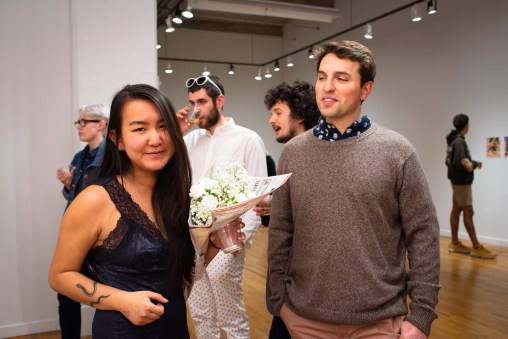 Merry Sun with Robert Orf at the BFA 2 Show, Des Lee Gallery, Washington University, St. Louis, MO