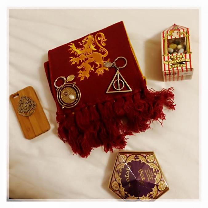 Les achats de l'amie qui m'accompagnait aux studios Harry Potter à Londres