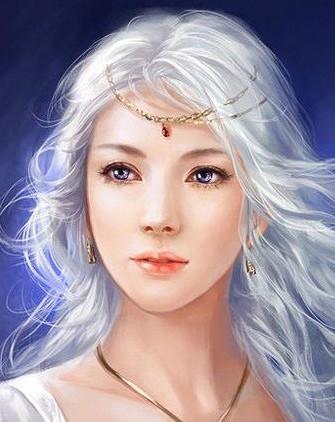 Illustration d'une jeune fille aux cheveux blancs et aux yeux mauves. Couleur des yeux légèrement modifiée pour le personnage d'Aylana, le personnage d'un roman en cours d'écriture. Source de l'image originale : http://phoenixlu.deviantart.com/art/Aminael-183295119