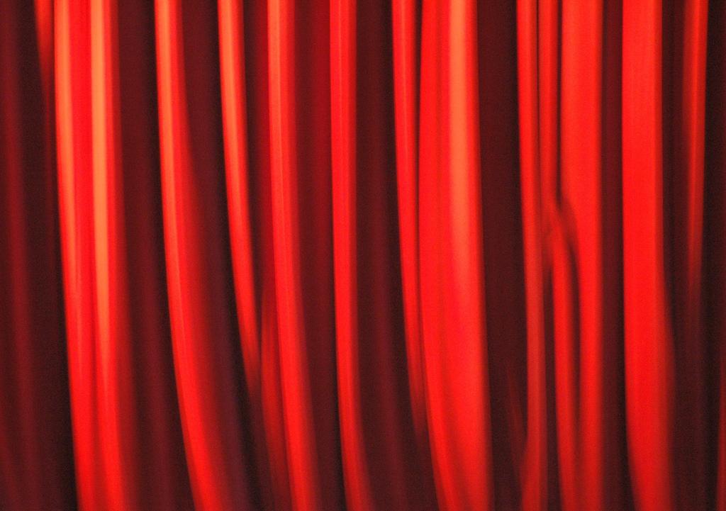 telon, cortina roja