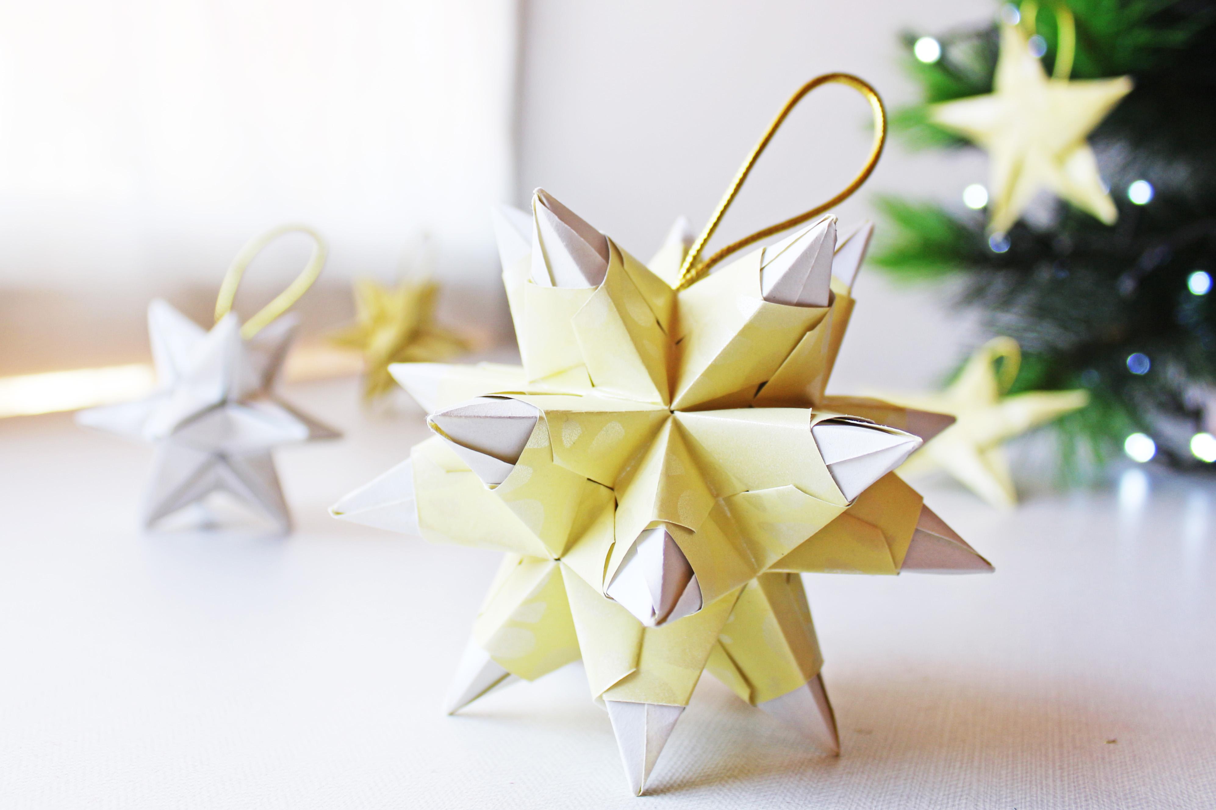 origami conpapel navideño