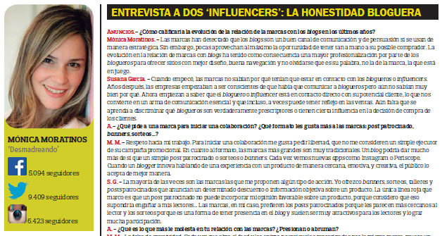 Marketing de Influencias revista ANUNCIOS