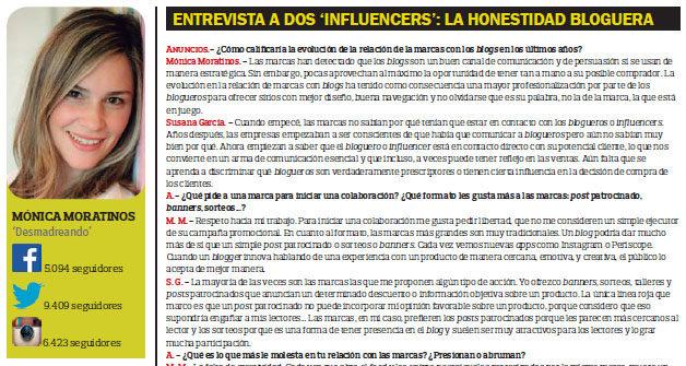 Marketing de Influencias revista ANUNCIOS