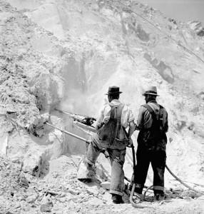 Extraction Amiante mine 1944