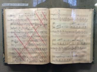 Jenůfa vocal score manuscript