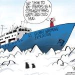 El Barco de los Tontos: Estudio del Calentamiento Global en el Ártico Cancelado Por Hielo sin Precedentes