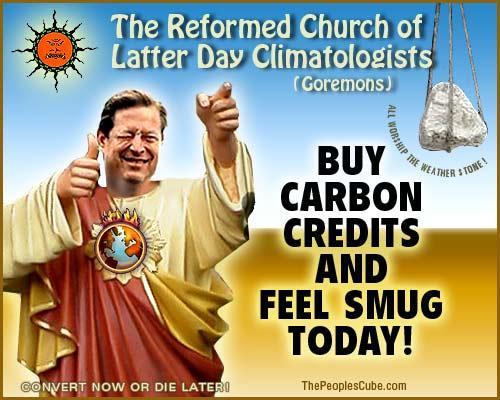 """""""La Reformada Iglesia de los Climatologistas del último día"""" - Compre créditos del carbón y sientase contrabandista hoy"""""""