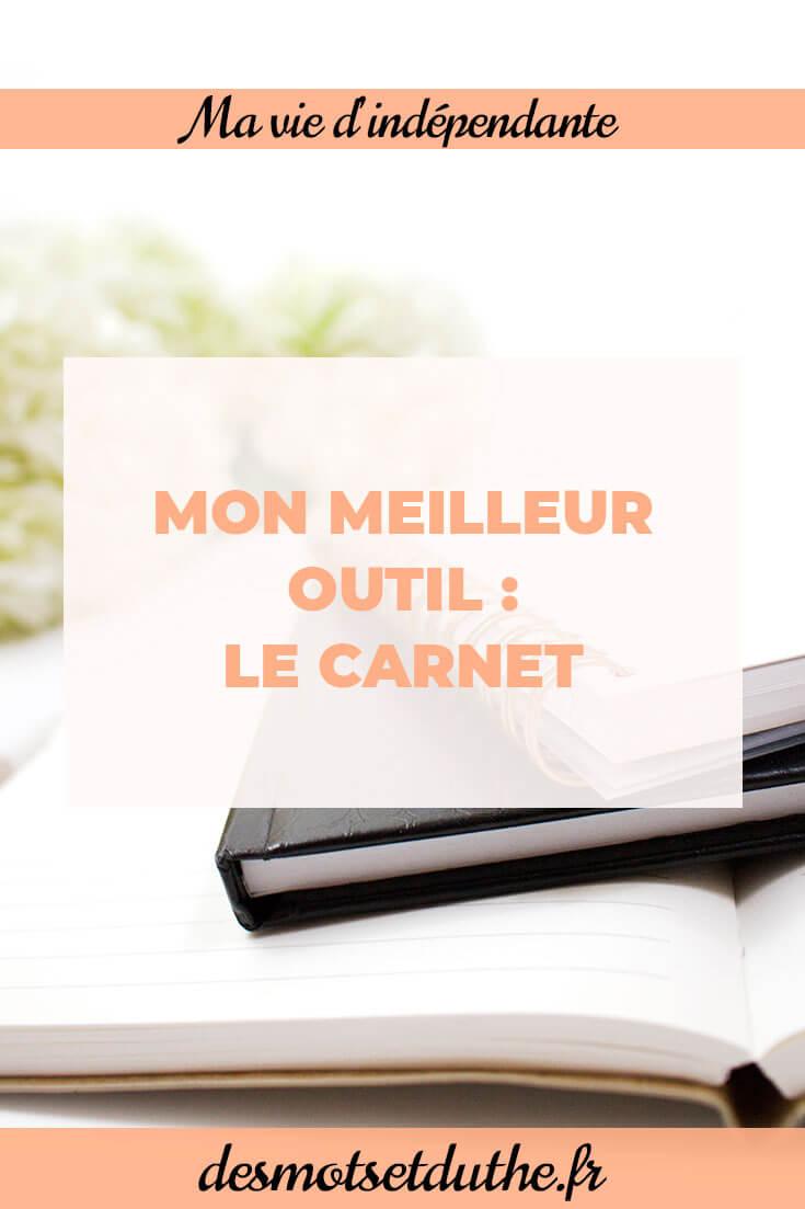 Des Mots et Du Thé : Comment organiser son travail avec des carnets ?