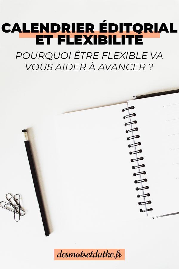 Conseil blogging : ayez un calendrier éditorial flexible