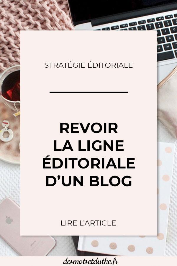 Revoir la ligne éditoriale d'un blog