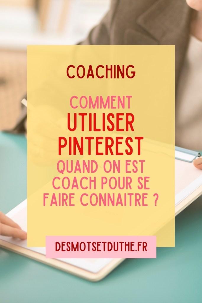 Coaching : utiliser Pinterest pour se faire connaitre
