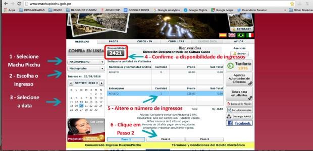 Como comprar ingressos para Machu Picchu