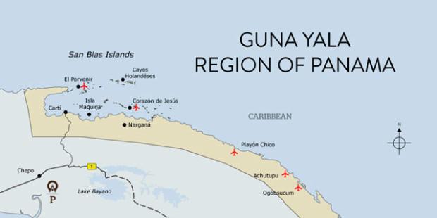 mapa san blas panama