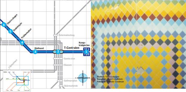 linha azul metrô de estocolmo