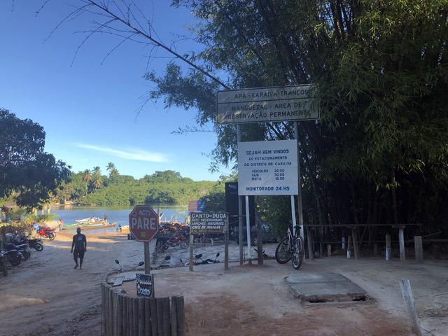 Nova caraíva, de onde partem os barcos para Caraíva