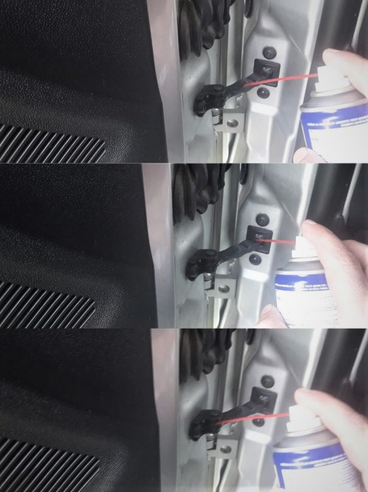 how-to-fix-squeaky-car-door-check-link-apply-wd-40