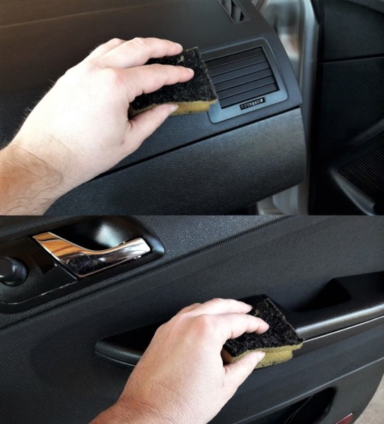 car-interior-cleaning-hack-with-dishwasher-sponge