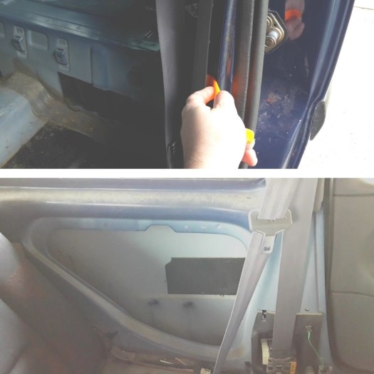 taking-off-trim-panel-with-trim-tool-seat-belt-retractor
