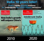 From 'Shining India' to 'Intolerant India' --in 10 Years