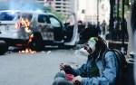 'JOKER' Torches Police Car in Chicago